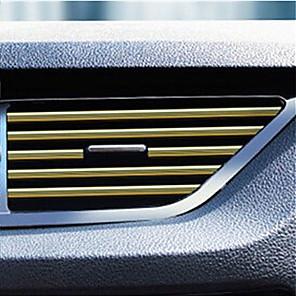cheap Car Body Decoration & Protection-Car Interior Air Conditioner Outlet Vent Grille Strips Decoration U Shape Interior Moulding Trim Strips