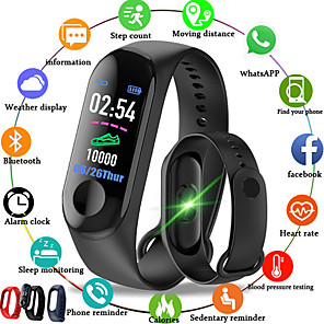 cheap Bathroom Gadgets-M3 Smart Wristband BT Fitness Tracker Support Notify/Heart Rate Monitor Waterproof Sport Bluetooth Smartwatch Compatible IOS/Android Phones