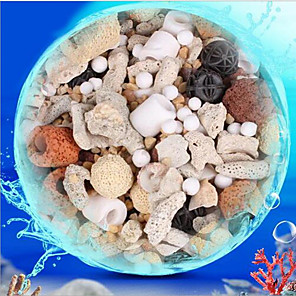 cheap Cleaning Tools-Aquarium Fish Filter Media Cleaning Portable Hardshell Special Material Natural Stone
