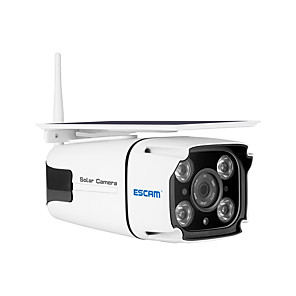 cheap Outdoor IP Network Cameras-ESCAM QF260 HD 1080P 2.0 mp Solar Camera Outdoor IP66 Waterproof Two Way Audio IP Camera 5200mAH Battery Low Power Consumption WiFi Security Camera with Removable Solar Panel