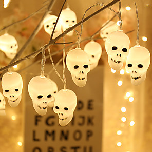 cheap LED String Lights-Cute Halloween Led String Light Ghost Skull Decorative Lights Fairy LED Garland Indoor Interior Decoration Battery Power Supply JQ