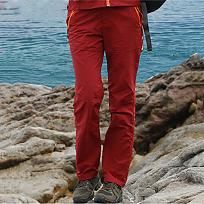 cheap Hiking Trousers & Shorts-Women's Hiking Pants Solid Color Summer Outdoor Windproof Sunscreen Breathable Quick Dry Pants / Trousers Bottoms Black Red Army Green Grey Khaki Hunting Fishing Climbing S M L XL XXL