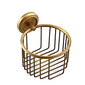 cheap Bathroom Gadgets-Toilet Paper Holder Creative Antique / Traditional Brass Bathroom Wall Mounted