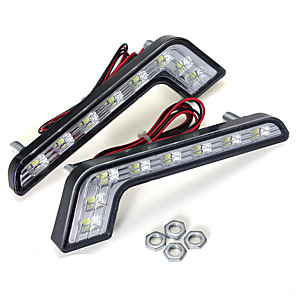 cheap Car Body Decoration & Protection-1pcs L Shape 5W LED DRL Daytime Running Lights Fog Lamp White for Benz C E S