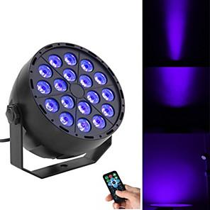 cheap Bathroom Gadgets-18 Beads LED Panel Lamp UV Violet Panel Lamp Remote Control Dyeing Lamp LED Stage Lamp Purple Panel Lamp Laser Lamp KTV