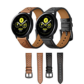 cheap Smartwatch Bands-Watch Band for Huawei Watch 2 / Samsung Galaxy Watch Active Samsung Galaxy / Huawei Classic Buckle / Business Band Genuine Leather Wrist Strap