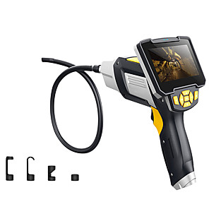 cheap CCTV Cameras-Digital Industrial Endoscope 4.3 inch LCD Borescope Videoscope with CMOS Sensor Semi-Rigid Inspection Camera Handheld Endoscope