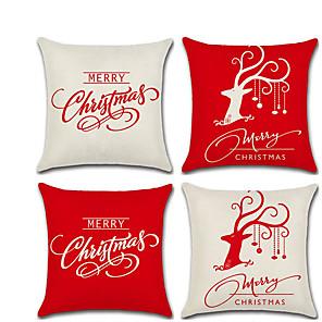 cheap Wall Stickers-New Christmas Series English Alphabet Deer Head Linen Pillow Case Cushion Cover