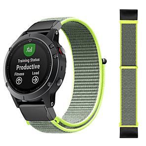 cheap Smartwatch Bands-Sport Nylon Watch Band Wrist Strap For Garmin Fenix 6X Pro / Fenix 5X Plus / Fenix 3 HR / Fenix 3 Sapphire / D2 Bravo Quick Release Wristband