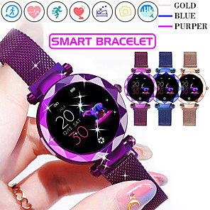 cheap Smartwatches-Smartwatch Digital Modern Style Sporty 30 m Water Resistant / Waterproof Heart Rate Monitor Bluetooth Digital Casual Outdoor - Purple Gold Blue