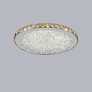 cheap Dimmable Ceiling Lights-1-Light 44.5 cm Mini Style / LED Flush Mount Lights Metal Crystal Painted Finishes Modern Contemporary 110-120V / 220-240V