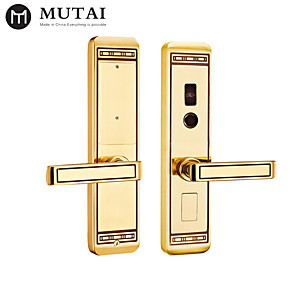 cheap Door Locks-Factory OEM S109109/YB Zinc Alloy / Aluminium alloy Card Lock / Password lock Smart Home Security Android System RFID / Password unlocking Home / Office / Hotel Wooden Door (Unlocking Mode Password