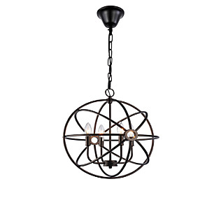 cheap Dimmable Ceiling Lights-5-Light 40CM(15.6inch) Designers Chandelier Metal Painted Finishes Globe 110-120V / 220-240V