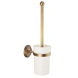 cheap Bathroom Shelves-Toilet Brush Holder Creative Antique / Traditional Brass / Ceramic Bathroom Wall Mounted
