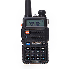 cheap Video Door Phone Systems-1PCS Baofeng UV-5R Walkie Talkie UHF VHF Portable CB Ham Radio Station Amateur Police Scanner Radio Intercome HF Transceiver UV5R Earphone