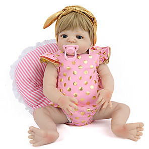 cheap Reborn Doll-NPK DOLL 20 inch Reborn Doll Reborn Toddler Doll Baby Boy Baby Girl Safety Gift Cute Silicone Silica Gel with Clothes and Accessories for Girls' Birthday and Festival Gifts / Kids