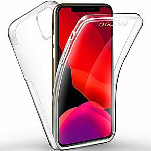 cheap iPhone Cases-360 Degree Full Body Case For iphone 11 Pro / iphone 11 Pro Max / iphone 11 Case Transparent PC Silicone Thin Gel TPU Soft Cover For iphone XS Max XR XS X 8 Plus 8 7 Plus 7 6 Plus 6