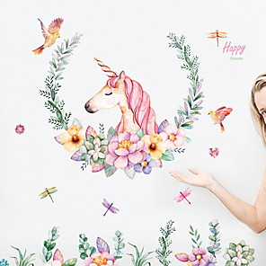 cheap Wall Stickers-Still Life Wall Stickers Plane Wall Stickers Decorative Wall Stickers, PVC Home Decoration Wall Decal Wall Decoration 1pc