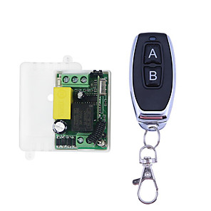 cheap Smart Switch-AC 220V 1CH RF 433MHz Wireless Remote Control Switch Module Learning Code 10A Relay/ A ON B OFF Latched Working way