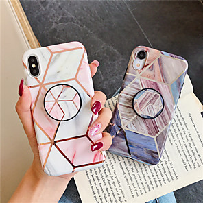 cheap iPhone Cases-Case For Apple iPhone 11 / iPhone 11 Pro / iPhone 11 Pro Max with Stand / Pattern Back Cover Marble TPU