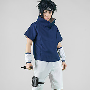 cheap Anime Costumes-Inspired by Naruto Uchiha Sarada Anime Cosplay Costumes Japanese Cosplay Suits Cosplay Tops / Bottoms Top Pants Sleeves For Men's