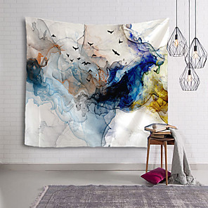 cheap Wall Tapestries-Chinese Ink Painting Style Wall Tapestry Art Decor Blanket Curtain Hanging Home Bedroom Living Room Decoration Abstract Bird Animal