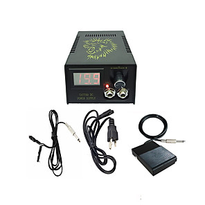 cheap Tattoo Power Supplies-BaseKey Professional Tattoo Power Supply - 110-220 V Professional Plastic & Metal for Tattoo Machine Power Tattoo Machine
