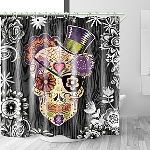 cheap Shower Curtains-Shower Curtains & Hooks Modern Polyester New Design