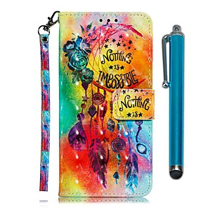 cheap Other Phone Case-Case For LG Stylo 4 / LG Stylo 5 Wallet / Card Holder / with Stand Full Body Cases Flower Wind Chimes PU Leather
