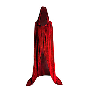 cheap Movie & TV Theme Costumes-Witch Cosplay Costume Cloak Masquerade Women's Movie Cosplay Cosplay Halloween Purple / Red / Green Cloak Halloween Carnival Masquerade Polyster