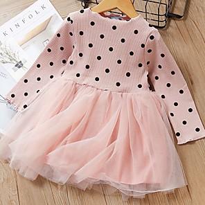 cheap Clearance-Kids Girls' Polka Dot Dress Blushing Pink