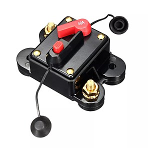 cheap Car Audio-12V/24V 40Amp Manual Reset Circuit Breaker Car Auto Boat Fuse Waterproof