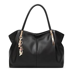 cheap Handbag & Totes-Women's PU Tote Solid Color Wine / White / Black / Fall & Winter