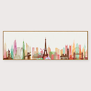 cheap Framed Arts-Framed Art Print Framed Set - Abstract Landscape PS Illustration Wall Art