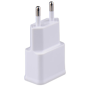 cheap Phone Mounts & Holders-Portable Charger USB Charger EU Plug Normal 2 USB Ports 1 A 100~240 V for Universal