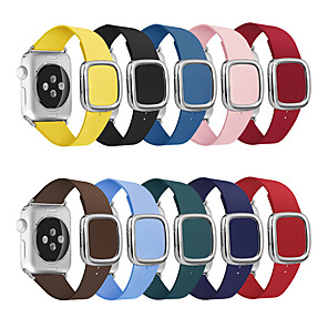 cheap Smartwatch Bands-Leather Loop Strap For apple watch band 44/42mm modern style Bracelet wrist band accessories For iWatch series 5/4/3/2/1 40/38mm