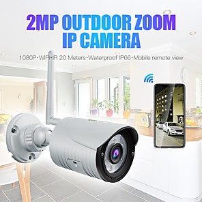 cheap Outdoor IP Network Cameras-Wanscam K22 Wireless 1080P 2MP IP Camera 3.6mm Lens 6PCS LEDs Support 3x Digital Zoom (Out On APP) Night Vision Outdoor IP66 Waterproof Onvif Audio Night Vision Remote Access Motion Detection