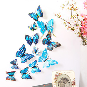 cheap Wall Stickers-Animals Double Layer Wall Stickers 3D Wall Stickers Decorative Wall Stickers Light Switch Stickers Fridge Stickers Wedding Stickers PVC Home - Blue