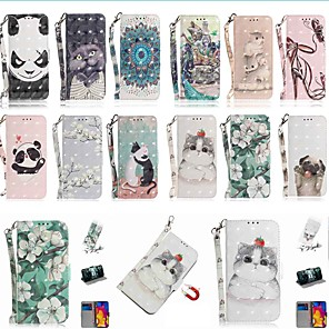 cheap iPhone Cases-Case For Apple iPhone 11 / iPhone 11 Pro / iPhone 11 Pro Max Wallet / Card Holder / with Stand Full Body Cases Cat PU Leather / TPU for iPhone X / XS / XR / Xs Max / 8 / 8 Plus / 6s / 6s Plus