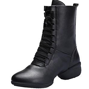 cheap Women's Sandals-Women's Dance Shoes Dance Boots Sneaker Flat Heel White / Black / Red / Performance