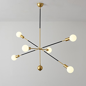 cheap Sputnik Design-EMPEROR LANG 6-Light 90 cm Chandelier Pendant Lights Metal Sputnik Industrial Painted Finishes Modern Nordic Style 110-120V 220-240V