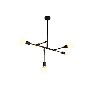 cheap Chandeliers-5-Light 84 cm Mini Style Chandelier Metal Geometrical Painted Finishes Artistic / Country 110-120V / 220-240V