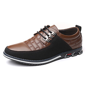 cheap Kids' Flats-Men's Summer / Fall Classic / Casual Daily Office & Career Oxfords Leather Non-slipping Wear Proof Black / Blue / Brown