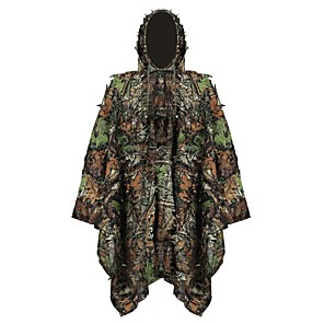 cheap Hunting Cameras-Men's Unisex Hunting Jacket Outdoor Sunscreen Ultra Light (UL) Quick Dry Breathability Spring Summer Fall Camo Top Polyester Taffeta Camping / Hiking Hunting Climbing Green / Winter / Winter