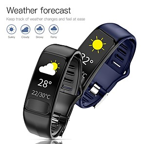 cheap Smartwatches-P12 Smart Watch Fitness Band ECG PPG Heart Rate Monitor IP67 Waterproof Health Bracelet Watches for Xiaomi Huawei Phone