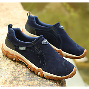 cheap Men's Athletic Shoes-Men's Comfort Shoes Synthetics Fall Sporty Athletic Shoes Hiking Shoes Wear Proof Black / Brown / Blue