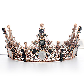 cheap Lolita Footwear-Tiaras Crown Masquerade Royal Style Halloween Alloy For Princess Aurora Cosplay Halloween Carnival Women's Costume Jewelry Fashion Jewelry