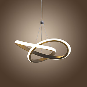 cheap Pendant Lights-1-Light LED15W Mini Pendant Light Ambient Lamp Aluminum Black White Painted for Living Room Bedroom Dining Room Warm White / White