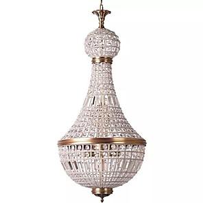 cheap Ceiling Lights-6-Light 34 cm Crystal / Mini Style / Designers Flush Mount Lights Metal Antique Copper Modern Contemporary 110-120V / 220-240V / E12 / E14