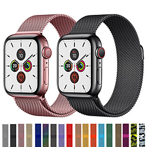 cheap Smartwatch Bands-Milanese Loop Watch Band Wrist Strap For Apple Watch Series 5/4/3/2/1 Replaceable Stainless Steel Bracelet Wristband